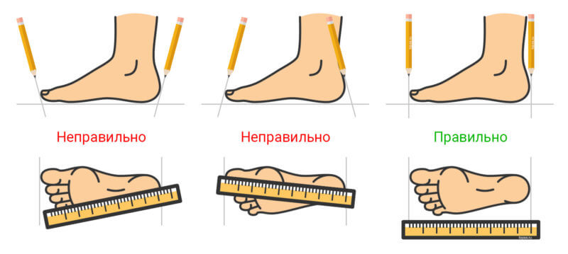 Как подобрать размер обуви